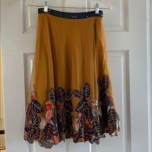 Beautiful beaded layered knee length skirt